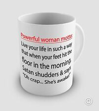 Powerful Women  Funny Novelty Quote Mug with FREE CHOCOLATE KISS