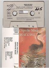 DEPECHE MODE cassette K7 tape SPEAK & SPELL french pressing VOGUE 740016
