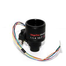 3MP HD Motorized Zoom 2.8-12mm Varifocal D14 Mount DC Iris Auto Focus lens