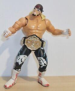 WCW - Hulk Hogan (nWo) - action figure w/ WCW World Championship belt