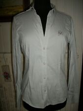 chemisier gris coton/nylon stretch GUESS by MARCIANO 46EU 42FR M.longue Strass