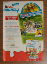 Seltene Werbung Ferrero KINDER COUNTRY Abenteuer Woche Landal GreenPark 2000