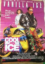 """Vintage Vanilla Ice Cold As Ice Original Movie Poster From Video Store 26""""X38"""""""