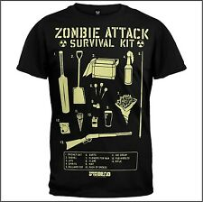 Shaun of the Dead-Zombie Attack Survival Kit, tamaño: XXL/2xl T-Shirt