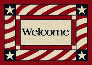 Milliken Patriotic Welcome Area Rug