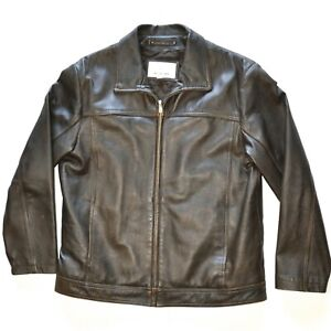 Wilson's Leather M. Julian Brown Jacket Mens size LARGE quilt lined