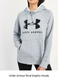 Under Armour Rival Graphic Fleece Overhead Hoodie Ladies Size: XL (20-22)
