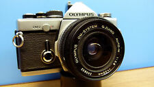 "Olympus OM-2 SLR 35mm camera+35mm Zuiko Lens ""GOOD STREET SHOOTING KIT""."