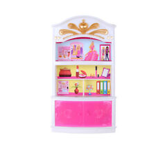 Cute Plastic Bedroom Furniture Wardrobe For Barbie Doll House Decoration HGUK