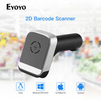 Eyoyo 2D & QR Wired & 2.4G Wireless Barcode Scanner Bar Code Reader for PC Linux