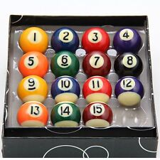 Set 15 Mini 1 inch Magnetic Spots and Stripes Pool Balls Novelty Fridge Magnets