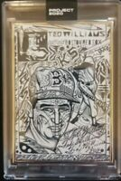 Topps PROJECT 2020 Card 9 - 1954 Ted Williams by JK5 - Artist Proof 9/20 JERSEY#
