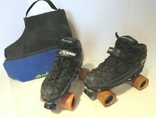 Riedell Carrera Sport 106B Speed Roller Skates Men's 11 Leather Sure Grip & Bag
