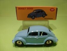 DINKY TOYS ATLAS  181 VW VOLKSWAGEN BEETLE - BLUE 1:43 - EXCELLENT IN BOX