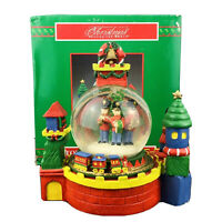 Christmas Around the World Musical Animated Snow Globe Plays Toy Land With Box