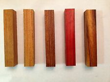 Pen Turning Blanks - Exotic Wood Variety Pack Padauk Mahogany Bubinga Tigerwood