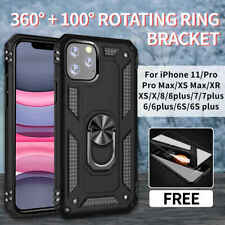 Armor Shockproof Case Cover For iPhone 11 Pro MAX XS X XR 8 7 6 6S Plus + Glass
