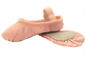 Satin Ballet Shoes Full Sole Pink