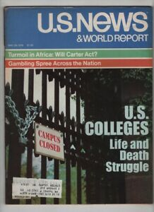 U.S. News Mag U.S. Collegs Life And Death Struggle May 29, 1978 101320nonr