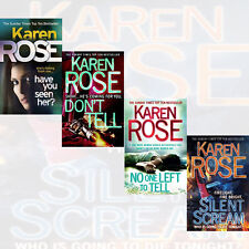 Rose Karen Collection 4 Books Set Silent Scream,Don T Tell, No One Left to Tell