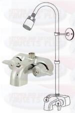 Chrome Bathroom Add-A-Shower Clawfoot Tub Diverter Faucet Kit