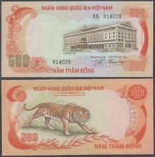 Viet Nam - National Bank - Tiger, 500 Dong, ND (1972), XF+++, P-33(a)