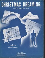 Christmas Dreaming 1947 Sheet Music