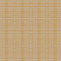 Inprint Jane Makower Patchwork Fabric, Stitch Check, Orange - Per 1/4 Metre