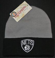 RRP £24.99 Mitchell   Ness Mens Brooklyn Nets Cuff Knit Beanie Black  Basketball be709d0d0895