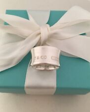 Tiffany & Co Sterling Silver Unisex Wide 1837 Ring. Size 6.5 RRP $470.