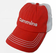 CUMMINS *RED & WHITE MESH TRUCKER* TRADEMARK LOGO Twill HAT *BRAND NEW!* CM15