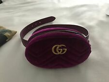 GUCCI MARMONT BELT BAG VELVET PURPLE 85 CM