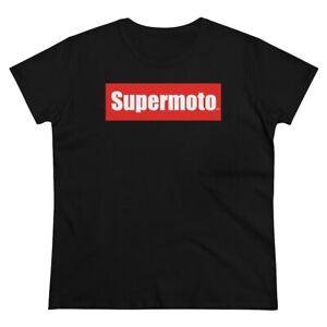 zXm Apparel Supermoto Red Logo Women's Classic Tee Black T-Shirt Motorcycle Moto
