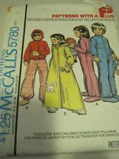 UNCUT McCALL'S CHILD'S LOT # 5780 Sewing Pattern Carefree Vintage 1977