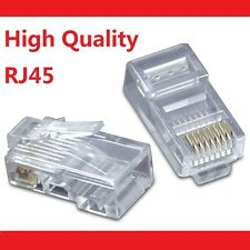 100 X RJ45 CAT5e CAT5 CAT6 Modular Plug Network Connector - Brand New