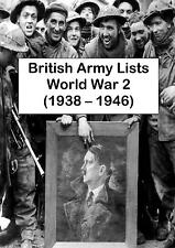 WORLD WAR 2 BRITISH ARMY LISTS - 84 BOOKS 2 DVDs (1938-1946) WW2 MEDAL REGISTERS