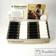 GUTERMANN - 48 x 150m Black and White Reels - 100% Polyester - Display Pack