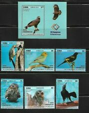 2018 Native Endemic Birds Caribbean Island Mnh + S/S Set