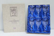 6 x EDINBURGH CRYSTAL Continental Collection Coloroll Wine Glasses Boxed - 250