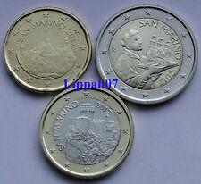 San Marino 20 cent, 1 euro en 2 euro 2017 UNC