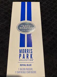 THE ART OF SHAVING Morris Park Collection Royal Blue 1 Razor/1 Cartridge NIB $60
