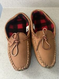 LL Bean Lined Moccasin Slippers