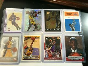KOBE BRYANT 8 CARD LOT!! ALL DIFFERENT - INSERTS, PARALLELS, LAKERS!!!