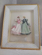 Antique HC FRENCH Fashion Engraving Embellished Ladies LA MODE ILLUSTREE Paris