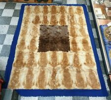 OLD AUSTRALIAN KANGAROO SKIN PELT FELT BACKED FLOOR RUG