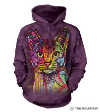 The Mountain Adult Unisex Hoodie Abyssinian Cat Fleece Sweatshirt  Size XL NWT