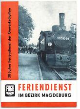 FDGB 30 Jahre Feriendienst im Bezirk Magdeburg 1977 DDR (H6