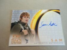 LOTR - THE TWO TOWERS - AUTHENTIC AUTOGRAPH CARD - SEAN ASTIN AS SAM