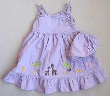 Gymboree Outlet GLAMOUR SAFARI Girls 12 18 Mo Purple Sundress EUC Giraffe