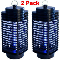 2PACK Electric UV Mosquito Killer Lamp Outdoor Indoor Fly Bug Insect Zapper Trap
